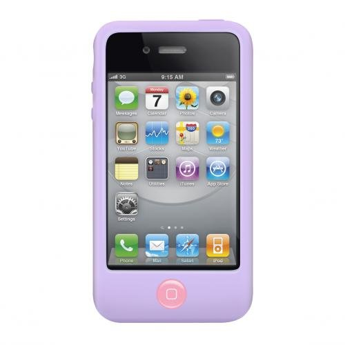 Silicone Switcheasy Case (SwitchEasy Colors Pastel Silicone Case for iPhone 4 & 4S - Lilac)