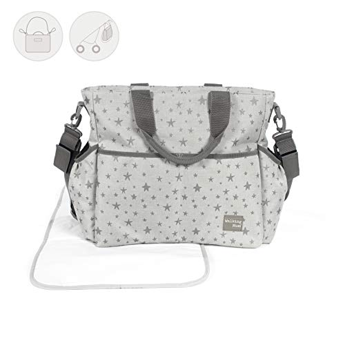 Walking Mum Inpiration - Bolsa canastilla, color gris