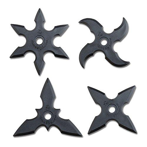 Rubber Ninja Toy Stars 4pcs Set Costume Accessory
