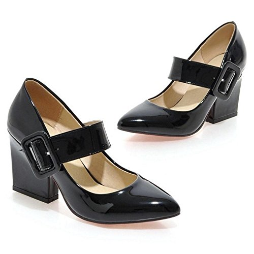 COOLCEPT Women High Heels Pumps Shoes Black iXz2vEG
