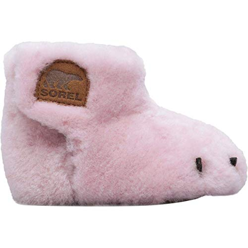 Sorel Kids Baby Girl's Bear Paw Slipper (Infant) Dusty Pink/Elk 1 M US Infant