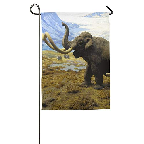 (North American Mammals Mammoths Garden Flag Indoor & Outdoor Decorative Flags for Parade Sports Game Family Party Wall Banner 28x40)
