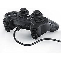 CSL - Manette pour PlayStation 3 avec câble + Dual Vibration | Joypad Controller | Plug & Play | noir