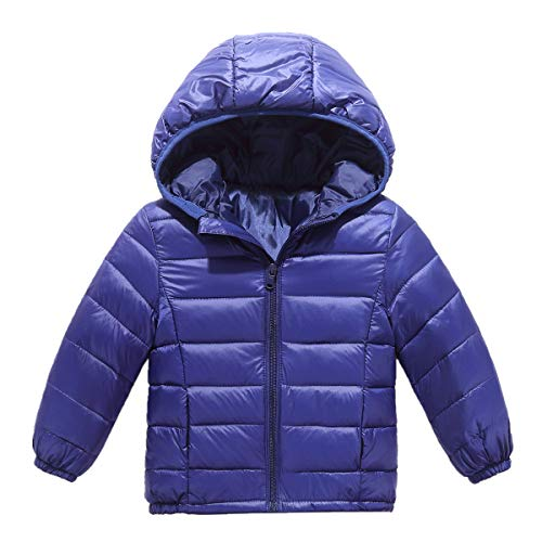 - RUI-CHENG Kid's Winter Lightweight Puffer Jacket Boy's Girl's Down Jacket Kids Coat Boys Girls Jacket Clothes 7-8 Years Dark Blue
