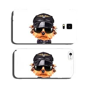 dog dressed as pilot cell phone cover case Samsung S6