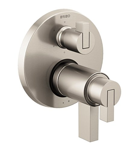 Brizo T75635-LHP Litze TempAssure Dual Function Thermostatic Valve Trim with Int, Luxe Nickel by Brizo