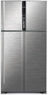 هيتاشي ثلاجة 990 لتر مع فريزر علوي, فضي/ RV990PUK1KBSL: Amazon.ae