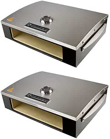 BakerStone Professional Series Pizza Box Oven Attachment for 3 Burner Gas Grills (2 Pack)