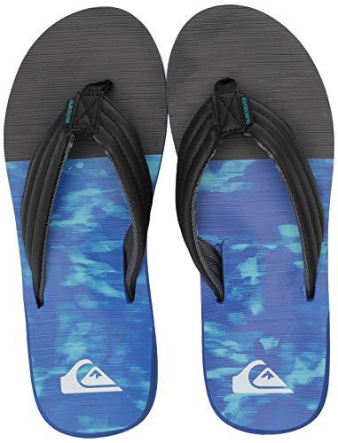 Quiksilver Men's Carver Print Sandal, Black/Blue/Grey, 9(42) M US ()