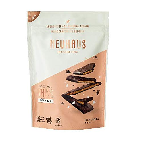 Neuhaus Belgian Dark Chocolate Nougathins With Sea Salt- 2 Pack