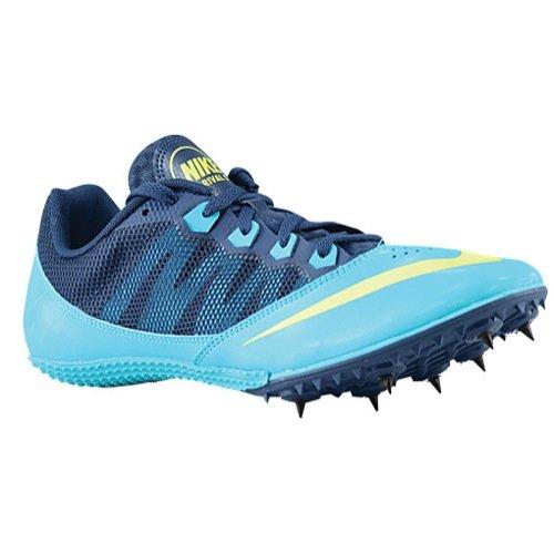 Nike Zoom Rival S 7 Sprint Shoe (12(M)/ 13.5(W), Gamma Blue/Volt-Brave Blue)