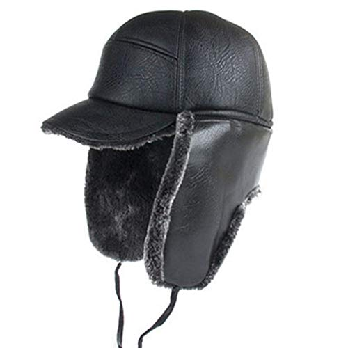 Men's Black Faux Leather...