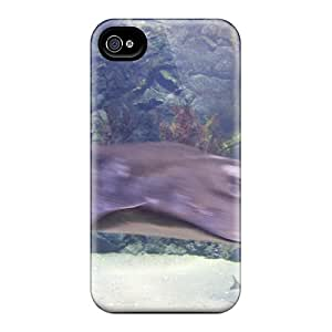 Top Quality Case Cover For Iphone 4/4s Case With Nice Stingray Swimming Appearance