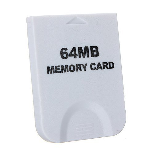 White 64MB Memory Card For Nintendo Wii Gamecube Game Cube G