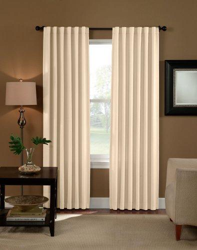 Drape Back Foam - Curtainworks Saville Solid Thermal Room Darkening Drape, 52 by 84