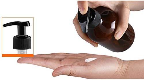 LAAT Botella de Pl/ástico Redonda Botes dispensador de jab/ón y loci/ón de 300 ml para dispensar lociones Champ/ús
