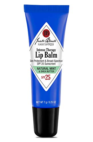 Jack Black Intense Therapy Lip Balm SPF 25, Natural Mint & Shea Butter 0.25 ounce.