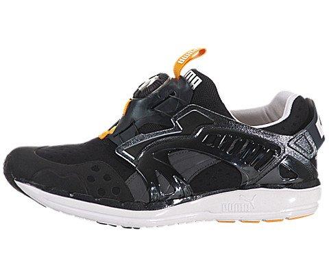 Puma Men's Future Disc Lite Tech'D Out Athletic Sneaker, Black/Zinnia, 11 M US - Puma All Black Sneakers