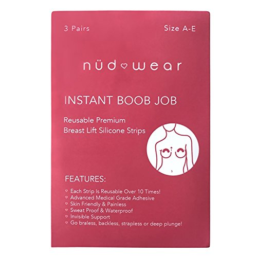 Nudwear Reusable Silicone Lifting Pushup Tape | Invisible Adhesive Bare Bra Lift Tape