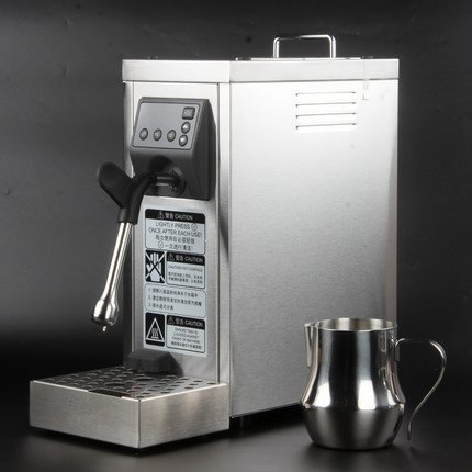 JIAWANSHUN Professional Espresso Coffee Milk Foam Machine Milk Frother Coffee Frothing Machine Milk Steamer Steam Coffee Milk Bubble Machine