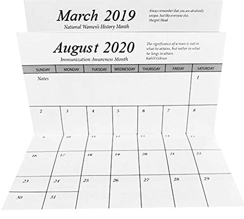 2019-20 Pocket Calendar Planners w/Covers, Cards Stock & Note - Refill Plastic Calendar