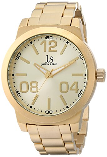 Joshua & Sons Men's JS82YG Yellow Gold Quartz Watch With Gold Dial and Gold Bracelet