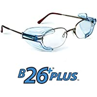 B26+ Wing Mate Safety Glasses Side Shields- Fits Small to Medium Eyeglasses (2 Pair) by Safety Optical Service
