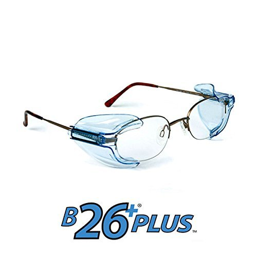 B26+ Wing Mate Safety Glasses Side Shields- Fits Small to Medium Eyeglasses (2 Pair) ()