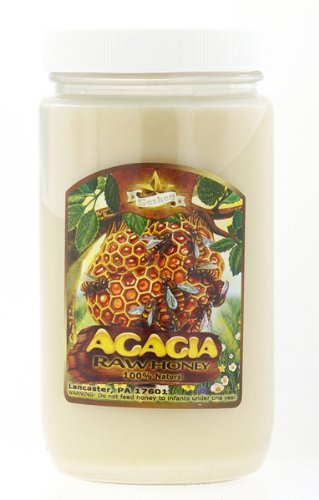100% Natural Raw Domestic Acacia Honey - Made in USA (Lancaster, PA) 1lb - *Amish Honey* by Goshen Amish Honey