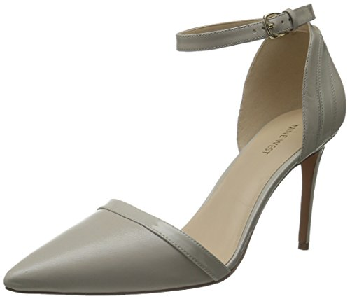 Nine West Tiempo Compartido del cuero de la bomba de vestir Light Grey/Light Grey
