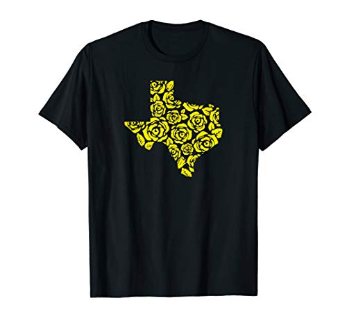 Rose Yellow T-shirt - The Yellow Rose of Texas Pattern Shirt