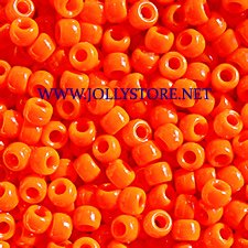 JOLLY STORE Crafts Neon Orange Pony Beads 9x6mm 500pc ()