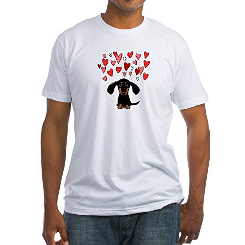 T-shirt Dachshund Fitted - CafePress Cute Dachshund Fitted T Shirt Fitted T-Shirt, Vintage Fit Soft Cotton Tee White