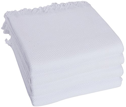 SET of 4 - New Season BRIGHTEST Diamond Weave Turkish Cotton