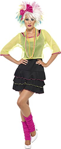 Smiffy's Women's 80's Pop Tart Costume, Top, Dress and Headband, Back to the 80's, Serious Fun, Size 10-12, 38823
