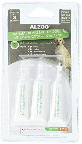 ALZOO Natural Spot-On Flea & Tick Treatment for Dogs 3 pack