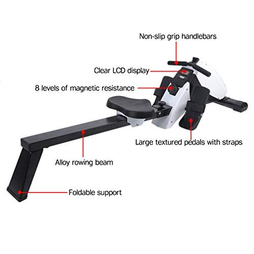 Happystore999 Magnetic Exercise Rower - Multifunction Abdominal Rowing Device with 8-Level Adjustable Resistance & LCD Monitor, for Increasing Cardio, Strengthening Core by Happystore999 (Image #3)