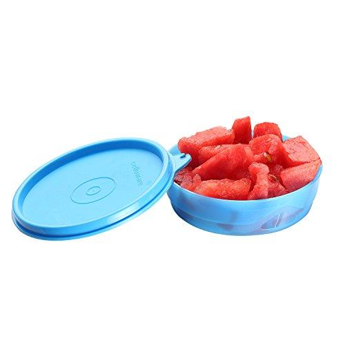 Cello Max Fresh Executive Round Small Polypropylene Container, 225ml, Blue
