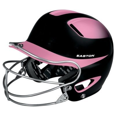 - Easton Natural Two-Tone Senior Batting Helmet with Mask, Black/Pink
