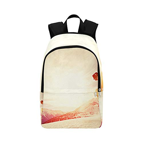 (Snowboarder Jumping Through Air Casual Daypack Travel Bag College School Backpack for Mens and Women)