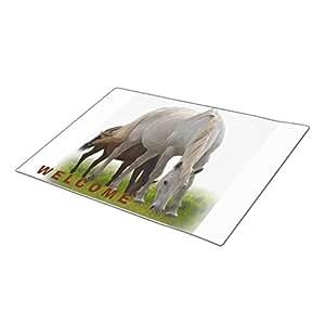 BaLaBala Horses Kentucky Derby Custom Doormat