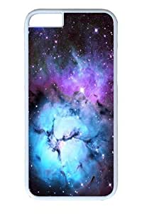iphone 6plus 5.5 Case, iphone 6plus 5.5 Cases -Blue Floral Nebula Polycarbonate Hard Case Back Cover for iphone 6plus 5.5 inch WhiteKimberly Kurzendoerfer