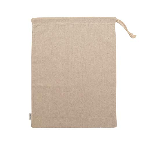 - Augbunny Cotton/Linen Blend 14- by 17-1/2-inch Muslin Produce Bags with Drawstring, 6-Pack