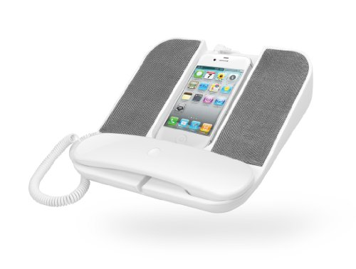 Cygnett Telephone Speaker for iPhone and Smartphones (White/Grey) (Discontinued by Manufacturer) by Cygnett