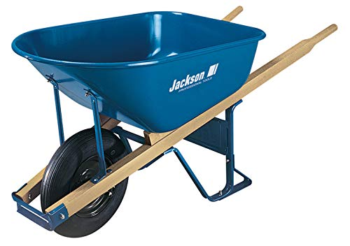 The Ames Companies, Inc M6T22 Jackson Steel Contractor Wheelbarrow, 6-Cubic Foot ()