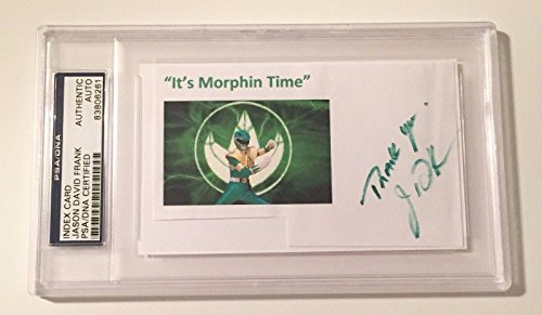 Jason David Frank Green Power Ranger Signed Auto 3x5 Index Card Slabbed - PSA/DNA Certified (Rangers Signed Auto)