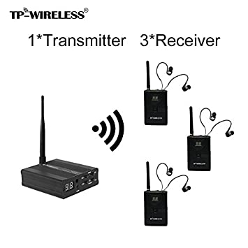 TP-WIRELESS 2.4GHz Professional In-ear Digital Wireless Stage audio Monitor System (1 Transmitter and 2 Receivers) SOYO TECH WMS02