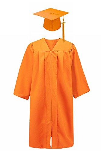 - Annhiengrad Unisex Adult Matte Graduation Gown Cap with Tassel 2018&2019, Orange