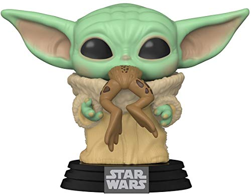 Funko- Pop Star WarsThe Mandalorian-The Child w/Frog Figura Coleccionable, Multicolor (49932)