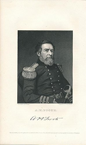Andrew Hull Foote 1867 antique engraved military leader portrait (Military Portrait)